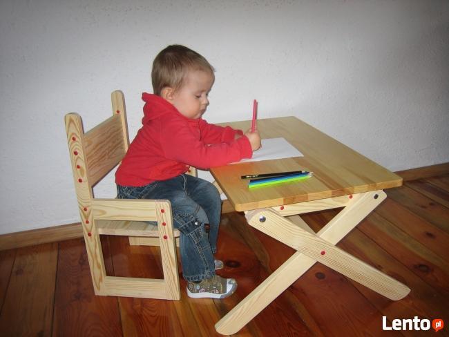 stolik i krzesełko rosnące z dzieckiem