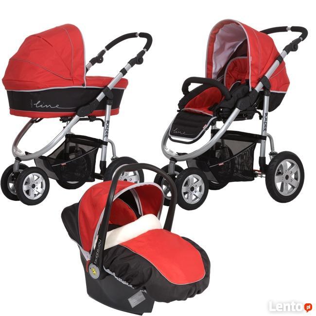 Wózek dziecięcy (3w1) - gondola, spacerówka, fotelik sam.