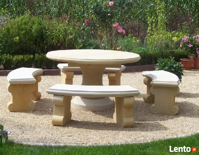 Komplet ogrodowy z piaskowca do oryginalnego ogrodu - kamień