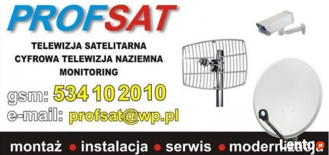 Montaż serwis anten satelitarnych NC+ Polsat KAMPINOS