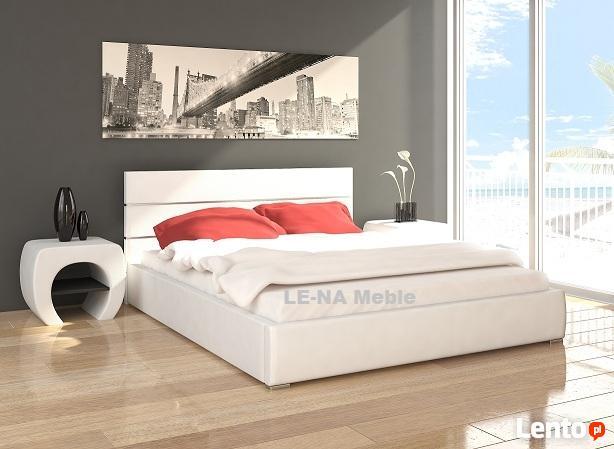 Łóżko 160x200 białe chromy PRODUCENT
