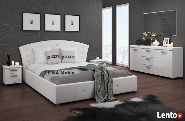 Łóżko 160x200 białe kryształki PRODUCENT
