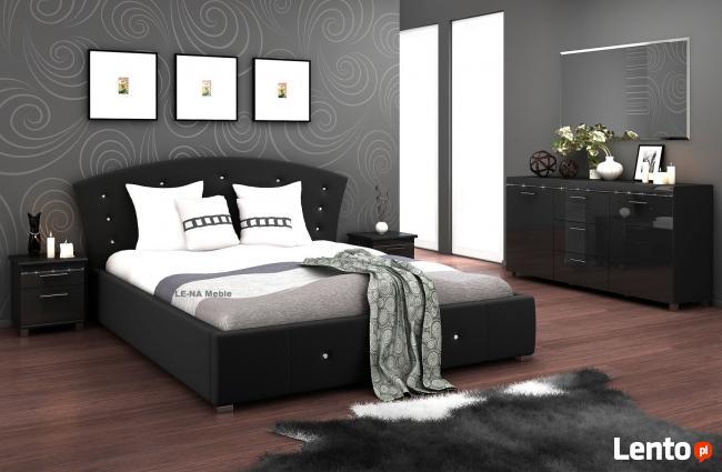 Łóżko tapicerowane 160x200 kryształki PRODUCENT