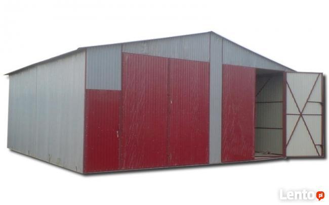 Garaż blaszany Garaże blaszane wiata wiaty hale 6x12 Brama