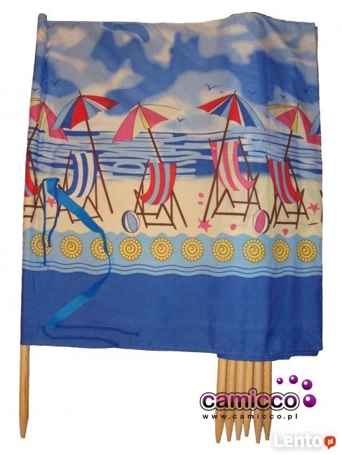 Parawan plażowy 10 metrów PARAWANY plażowe na plażę hit
