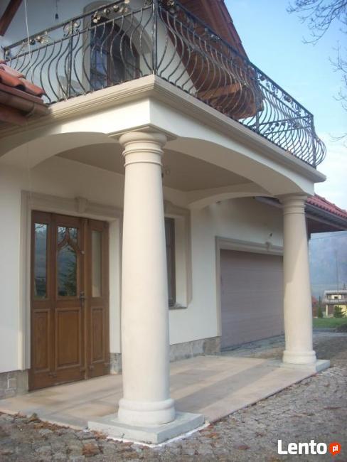Kolumny Betonowe - kolumna świecowa i kolumna beczkowa