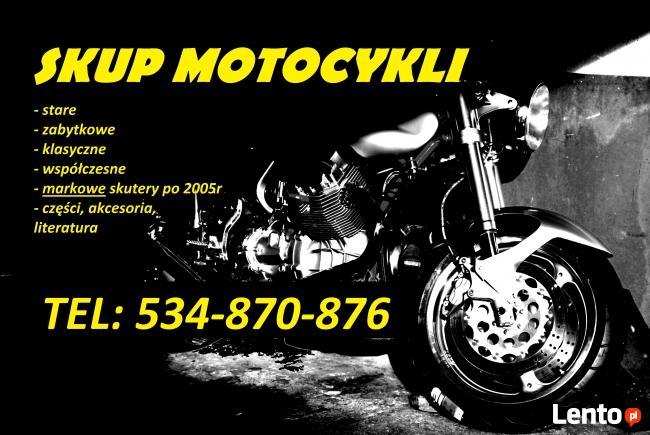 Skup motocykli za gotówkę! gotówka od ręki! 534-870-876