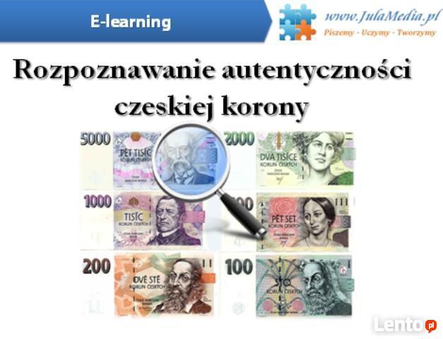 Rozpoznawanie autentyczności czeskiej korony (e-learning)