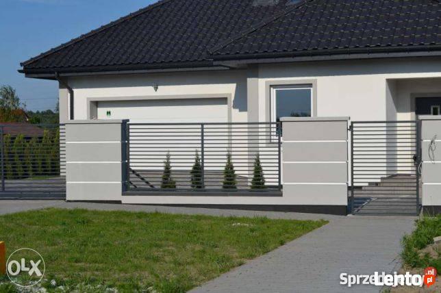 Eleganckie ogrodzenie, przęsło, panel
