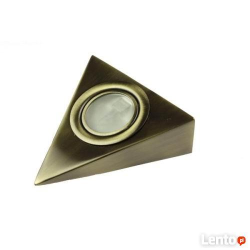 Oprawa podszafkowa halogen trójkąt STARE ZŁOTO 20W