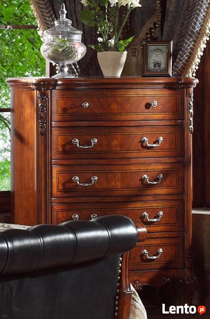 Drewniana sypialnia z pikowaną skórą Vanessa od Jacob Furnit