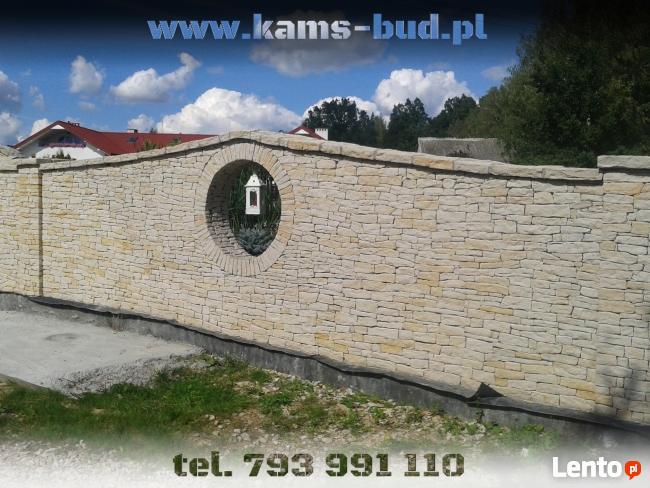 Ogrodzenie z kamienia , płoty z kamieni piaskowiec Kraków