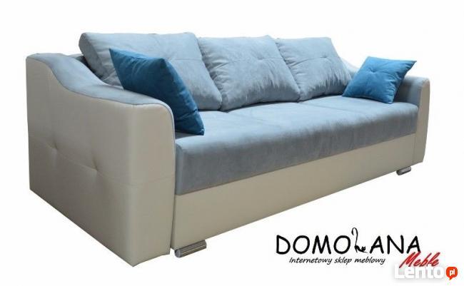 Duża salonowa kanapa ROMA z funkcją spania i pojemnikiem