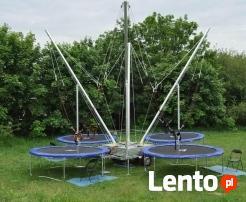 Eurobungee, trampolina na linach, skakanie, atrakcja,impreza