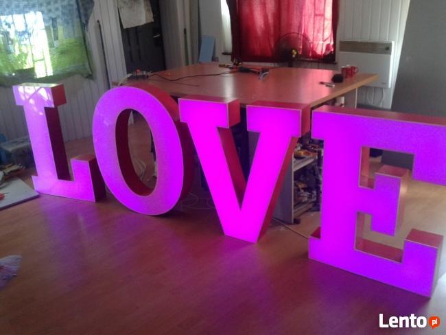 LOVE LITERY PODŚWIETLANE HIT NOWOŚĆ