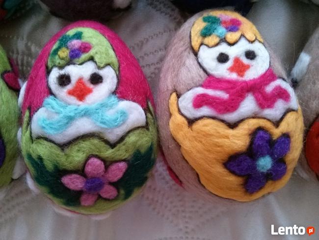 PISANKI jaja ręcznie wykonane z filcu * pisanka 12