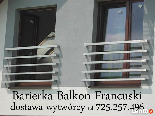 balustrady nierdzewne balkon francuski 18 wzorów