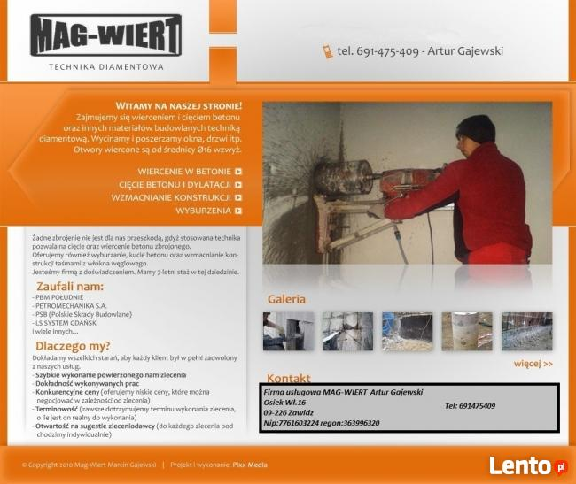 Wiercenie otworów w betonie technika diamentowa Bydgoszcz
