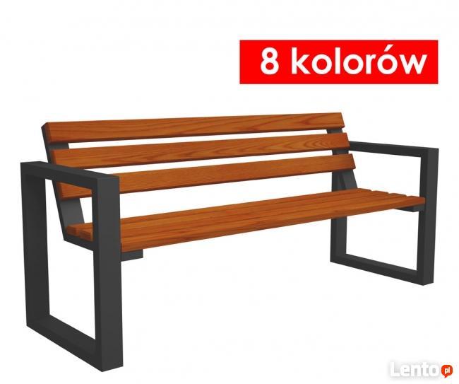 Drewniana ławka parkowa, ogrodowa