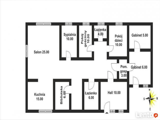 duży parterowy dom