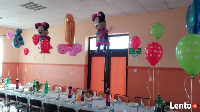 Napelnianie balonow helem-dekoracja sal urodzinowych