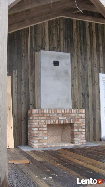 kominek otwarty zdun Warszawa palenisko otwarte budowa pieca