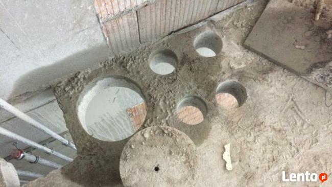 Wiercenie otworów w betonie wiertnicą techniką diamentową