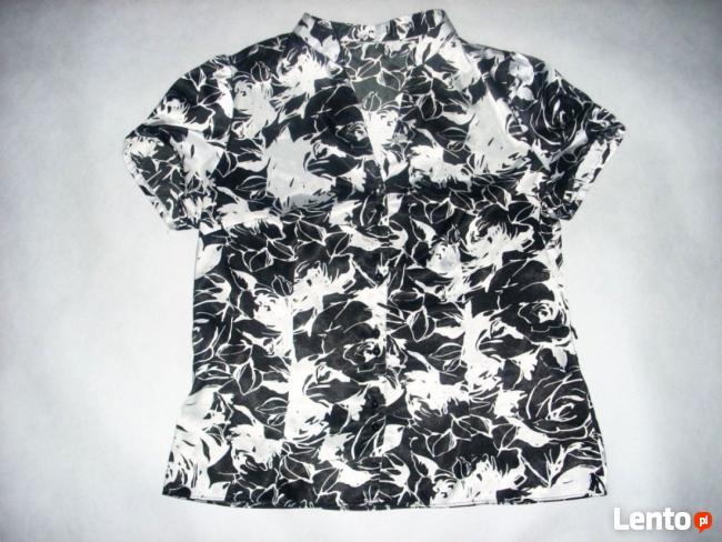 ELEGANCKA bluzka koszula Satyna stójka 42 44