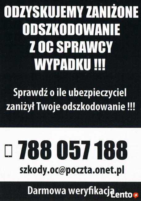 ODZYSKUJEMY ZANIŻONE ODSZKODOWANIE Z OC SPRAWCY WYPADKU !!!