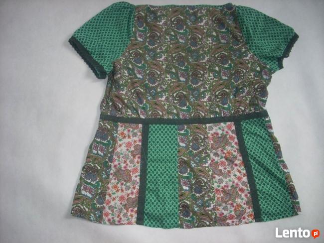 NEXT Bluzka Tunika łączone wzory Bawełna 48