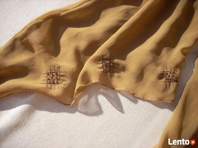 QED Tunika elegancka Zwiewna Hafty Koraliki 36 38