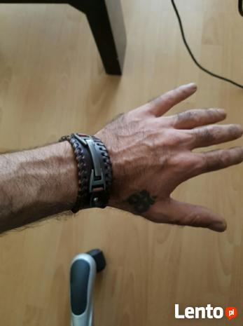 Opaska na rękę skórzana pieszczocha bransoletka skóra natura
