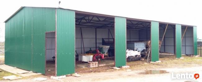 Garaż blaszany Blaszak wiata 17x7,5 WZMOCNIONY PRODUCENT
