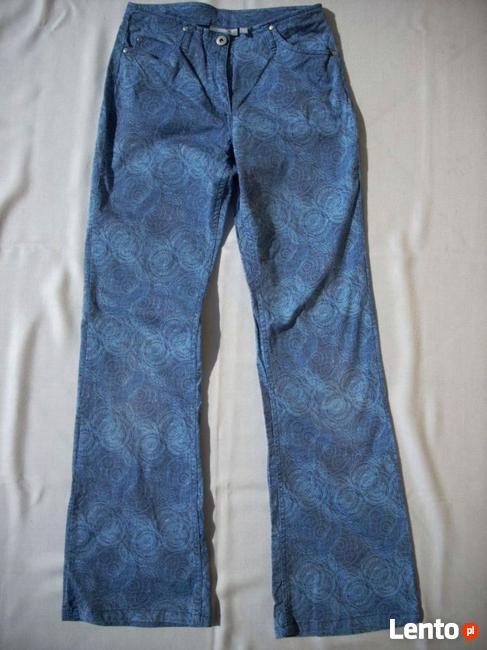 H&M DUBSTER Spodnie Wzorzyste Jeansy 36 S