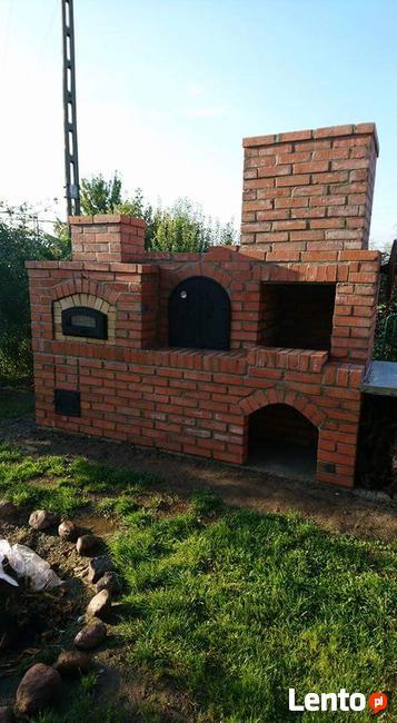 Grill wędzarnia grill ogrodowy grillowedzarnia piec na pizze
