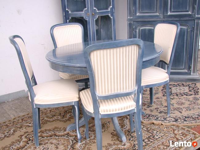 Stół Krzesła Ludwik Filip różne wzory