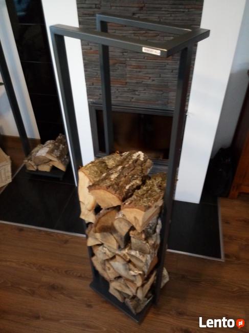 Stojak na drewno wysoki