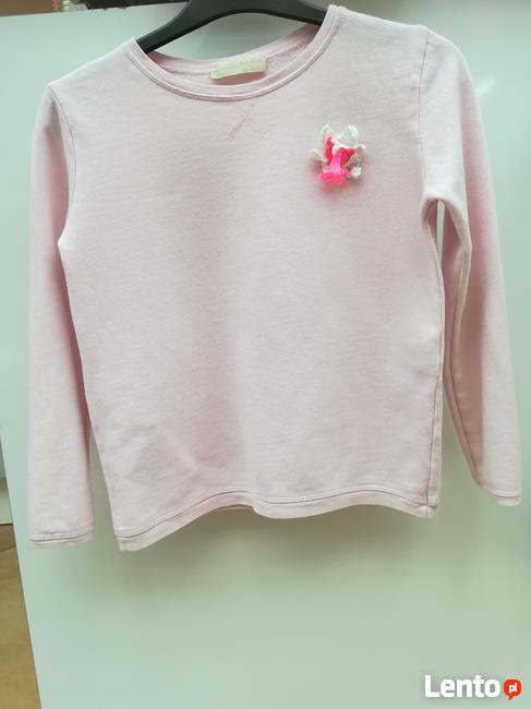 Zara Girls 140, Różowa Bluza dziewczęca z naszytym kwiatem