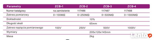 ZCB-2 Induktorowy miernik rezystancji izolacji 250V 0~250MOh