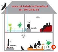 multiroom nc+ cyfrowy polsat orange TV - instalacja serwis