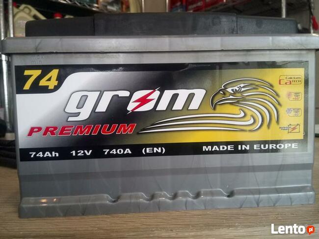 Akumulator GROM 12V 74Ah/740A POZNAŃ