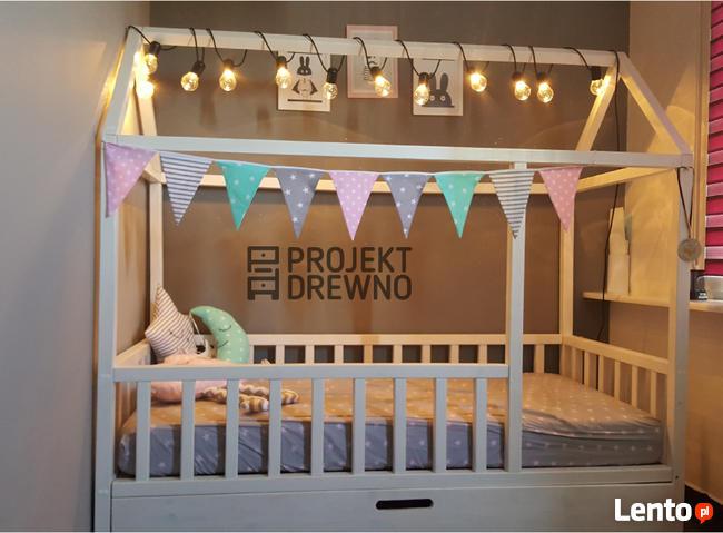 SZYBKA REALIZACJA/ Drewniane Scandi Bed !/ łóżko domek