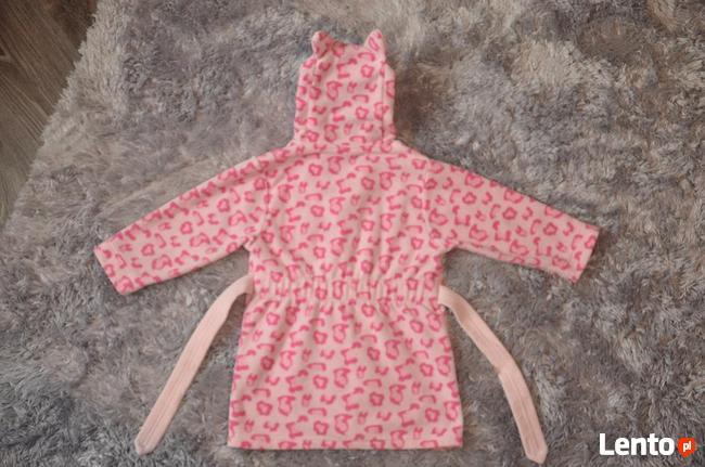 Szlafrok różowa pantera rozm. 12-18 m-cy