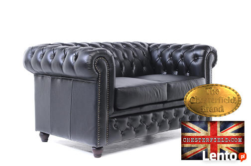 Chesterfield sofa 2 os Brighton czarna