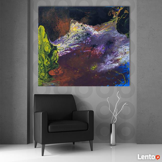 """Akryl na płótnie """"OBCE KRAJOBRAZY"""" obraz 100x90cm"""