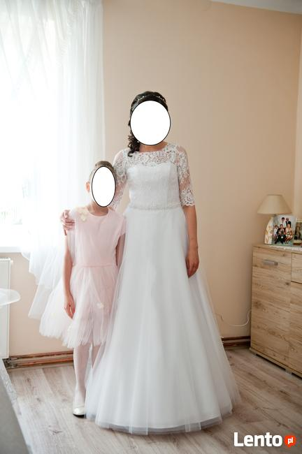 Suknia ślubna biała, rozmiar 36, wzrost 160, jak nowa!