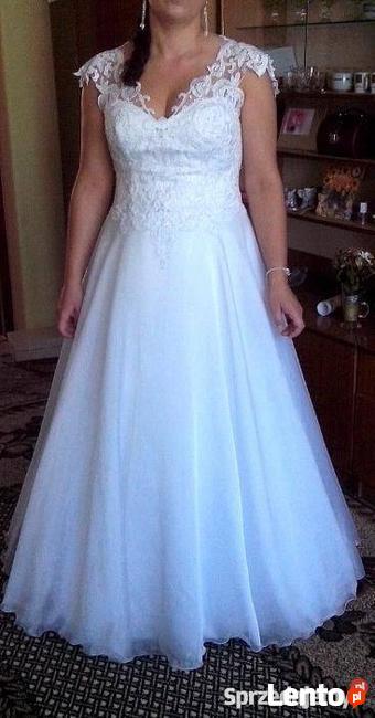 a273be696a suknia ślubna 42-44 biała Sierpc