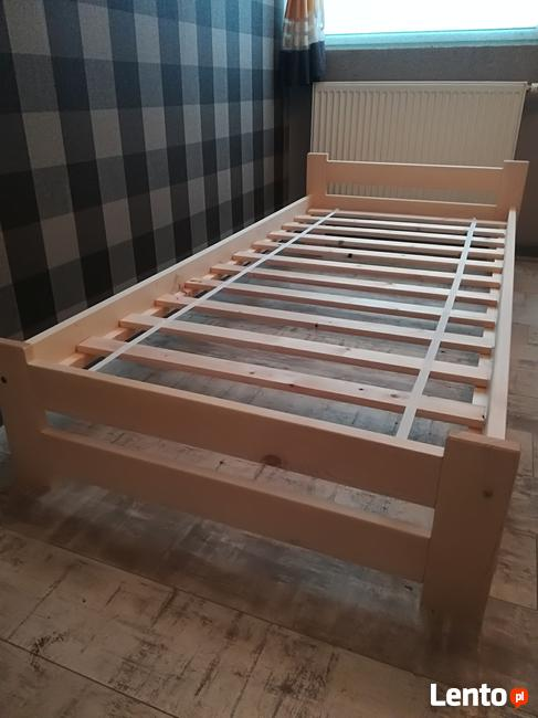 Łóżko sosnowe 90x200 z materacem, producent.Dostawa, dostępn