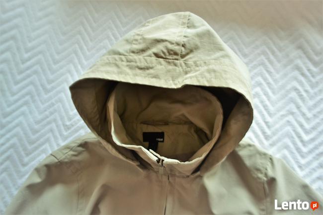 Długa kurtka z kapturem  H&M   L
