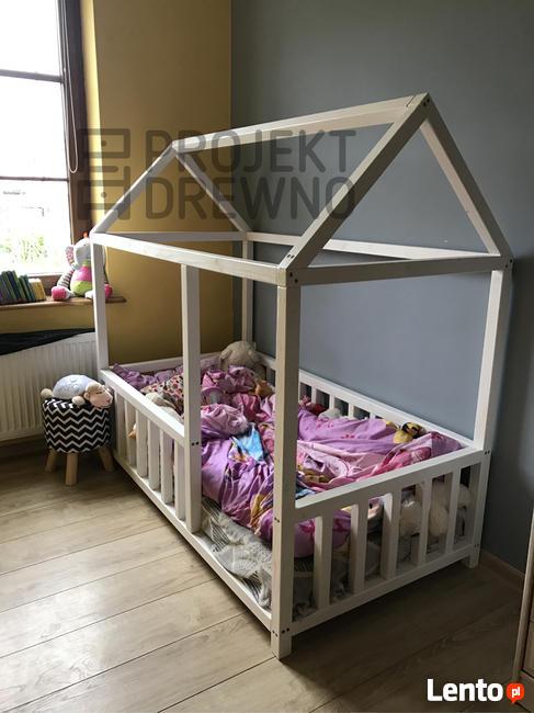 SZYBKA REALIZACJA/ łóżko domek w stylu skandynawskim
